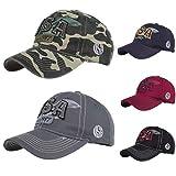 KPPONG Unisex Cap,Baseballmütze Hip Hop Kappe-Verstellbarer Hut Distressed Denim Maple Leaf Bestickte Baseball Cap-Outdoor Sport Topee Hat