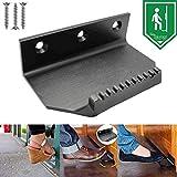 Hands Free Door Opener,Foot Pedal Opener,Touchless Foot Door Pull Opener Bracket for Public Bathroom Doors - Black