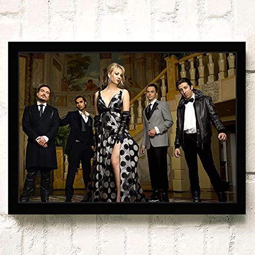 Leinwand Poster 60x90cm Kein Rahmen The Big Bang Theory TV Film Poster Wandkunst Wohnkultur Malerei