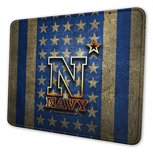 Navy Midshipmen Flag University Mouse Pad - Smooth Surface Non-Slip Rubber Base Mouse Pads,Gaming Square Mouse Pad for Computers, Laptop,Pc,Office, Home(8.3 X 10.3 in)