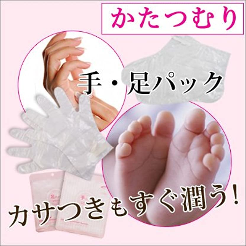 肌詐欺差し引く【かたつむり モイスト フット&ハンド パック 2種類×5枚】