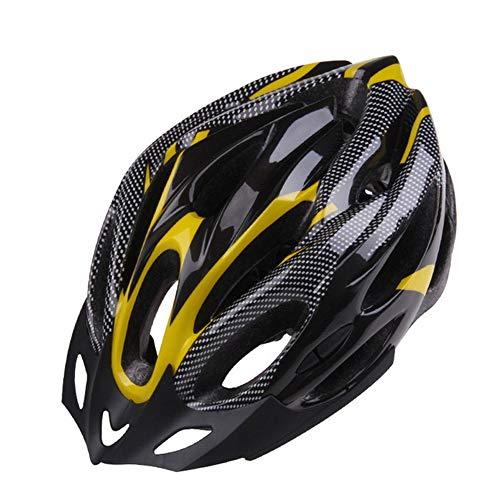 Professionale di corsa della bicicletta Casco protettivo, bici Casco da bicicletta adulto Uomini bici in fibra di carbonio del casco integrato Moulding traspirante in bicicletta che corre casco,Giallo