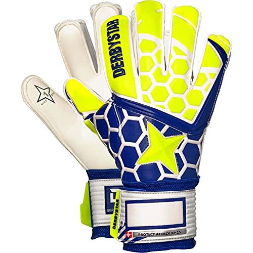 Derbystar Kinder Protect Attack XP15 Handschuhe, gelb Navy weiß, 6