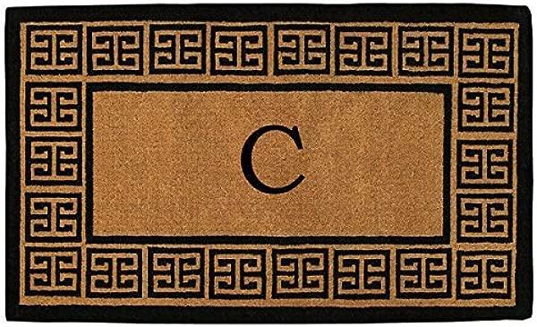 家更多 180091830C 希腊特厚门垫 18X30X1 50 字母 C 自然黑色