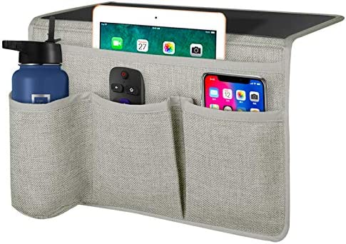 Joywell Bedside Organizer Caddy with 4 Pockets Bedside Remote Control Holder Storage Insert product image