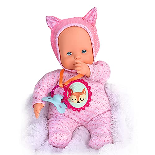 Nenuco - Blandito 5 Funciones Rosa, hace sonidos como un bebé de verdad, se ríe, llora, dice mamá y papá, hace sonidos de chupete y chupar el dedo. Regalo para bebés de 1 a 3 años FAMOSA (700014781) ⭐