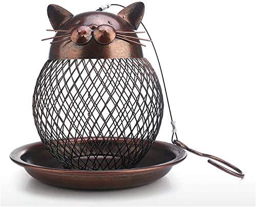 Anti Ardilla a Prueba de discusión Alimentador de Aves Metal al Aire Libre Colgante de Girasol Alimentador de Girasol con Bandeja