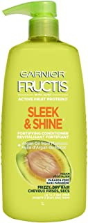 Garnier Fructis Sleek & Shine Conditioner for Frizzy Hair, 33.8 Ounce Bottle