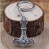 Thors Hammer Wikinger Vikings Schlüsselanhänger Metall 5cm Odin | Valknut | Geschenk | Thor |...