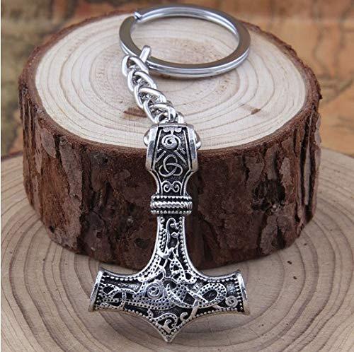 Thors Hammer Wikinger Vikings Schlüsselanhänger Metall 5cm Odin | Valknut | Geschenk | Thor | Mjölnir | Runen
