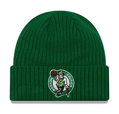 New Era Unisex Boston Celtics Core Classic Knit Hat Knit Beanie, Adult, Green, OS