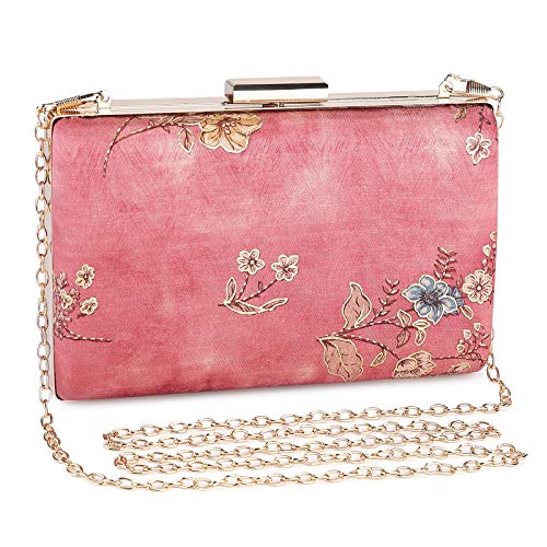 Women's Evening Clutches Elegant Floral Lace Small Clutch Evening Handbags Purse for Party Wedding