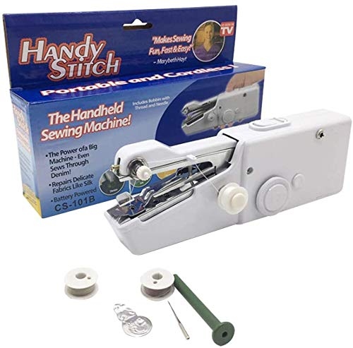 Handheld Sewing Machine Portable Mini Electric Stitching Machine Quick Handy Stitch for...