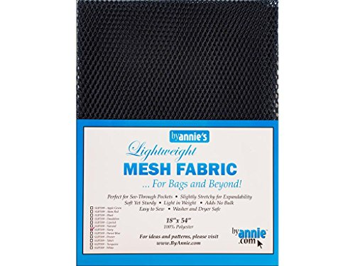 ByAnnie leicht, ca. 45x137cm, 100% Polyester Netzstoff, dunkelblau, 46 x 137 x 0.5 cm