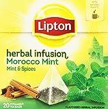 Lipton Pirámide Infusión Morocco de Menta y Canela - 20 bolsitas