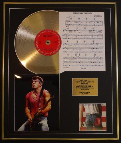 BRUCE SPRINGSTEEN/CD GOLD DISC UND PHOTO UND SONG SHEET DISPLAY/LIMITIERTE AUFLAGE/COA/ALBUM, BORN IN USA /SONG SHEET, DANCING IN THE DARK