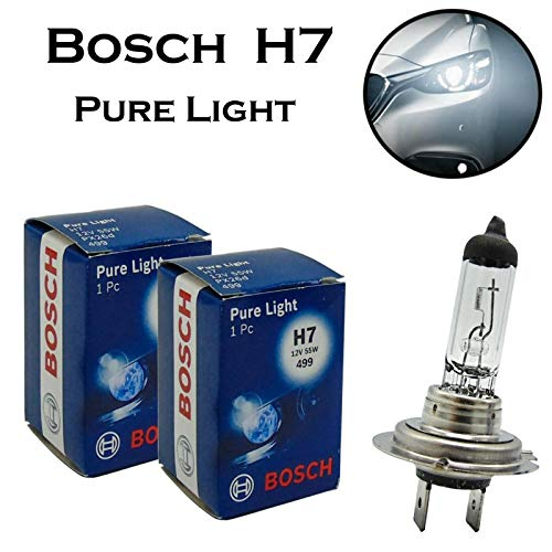 Set van 2 x Bosch H7 55 W 12 V PX26d 1987302777 Pure Light White White Premium kwaliteit vervanging koplampen halogeen autolamp - E-getest