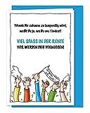 Freche XL Grußkarte für Kollege, Kollegin zum Abschied, zur Verabschiedung in Rente, Ruhestand,...