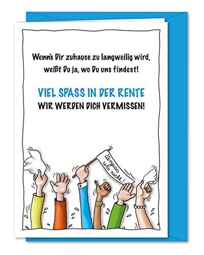 Freche XL Grußkarte für Kollege, Kollegin zum Abschied, zur Verabschiedung in Rente, Ruhestand, Pensionierung, Altersteilzeit inklusive Umschlag (DIN A5)