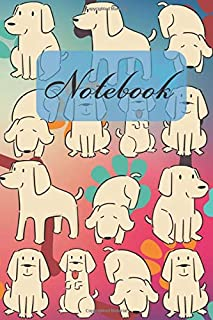 Notebook: Cute Brown Labrador Retriever Appearance - Dogs Diary / Notes / Track / Log / Journal , Book Gifts For Dad Mom Friends Kids Teens 6x9