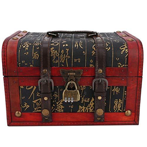 Caja de regalo retro, caja de maquillaje, pendientes, anillo y collar de almacenamiento, adecuado para centros comerciales, exhibiciones de joyas, uso en el hogar