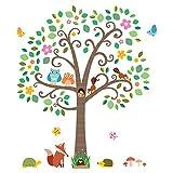 Decowall, dm-1502, Wandaufkleber Baum Tiere