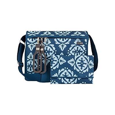 JJ Cole All Around Diaper Bag, Aqua Ikat