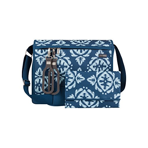 JJ Cole todo bolsa de pañales, Aqua Ikat