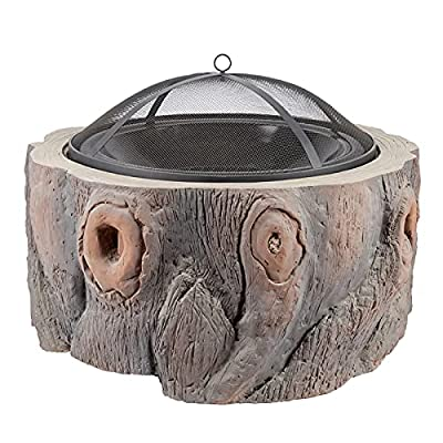 Fire Pit Wood-Burning fire Pit, Villa Courtyard Heating Stove, Suitable for Garden, Backyard, Swimming Pool, with Flame-Retardant mesh Cover by Lijack