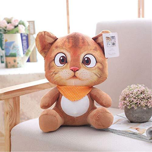 R-WEICHONG Tierkissen,20 cm Weiche 3D Simulation Gefüllte Katze Spielzeug Sofa Kissen Kissen Plüsch Tier Katze Puppen Kinder Spielzeug Geschenke