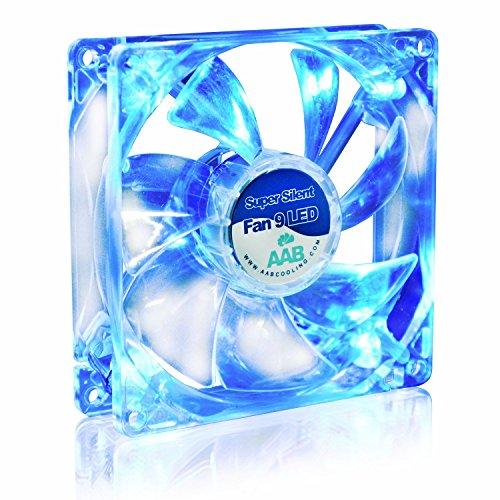 AABCOOLING Super Silent Fan 9 Blue LED - Un Silencioso y Muy Efectivo Ventilador 92mm con LED Azul, Ventiladores PC, Fan Cooler 9cm, Ventilador 12V, 58m3/h, 1600 RPM 13,6 dB