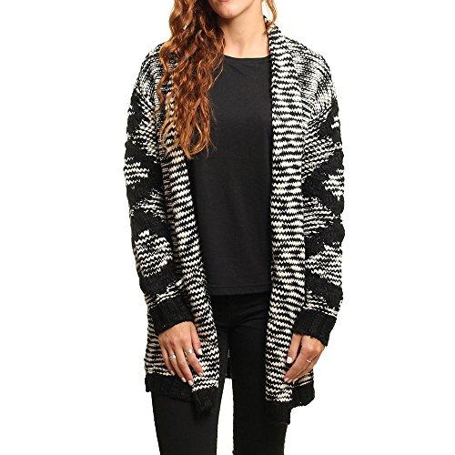 Billabong Shoreline Drive Pullover Damen schwarz/weiß FR: M (Größe Hersteller: M)