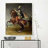 アントワーヌジャングロ《ボリスユスポフ王子の乗馬の肖像》 ﹣Diy5Dダイヤモンドペインティングキット﹣フルダイヤモンド刺繍クロスステッチの家の装飾