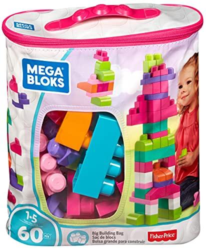 Mattel Mega Bloks First Builders DCH54 - Bausteinebeutel, Medium 60 Teile, pink