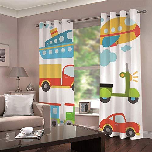 cortinas salon con dibujos 3d