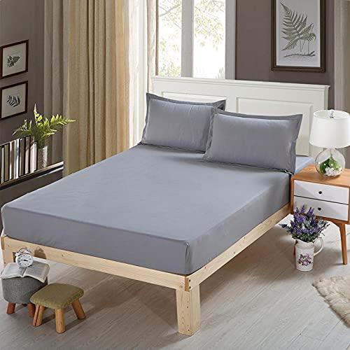 colchón Acolchado, antialérgico antiácaros, Colcha de una Pieza Color Puro a Prueba de Polvo -10_150 * 200cm
