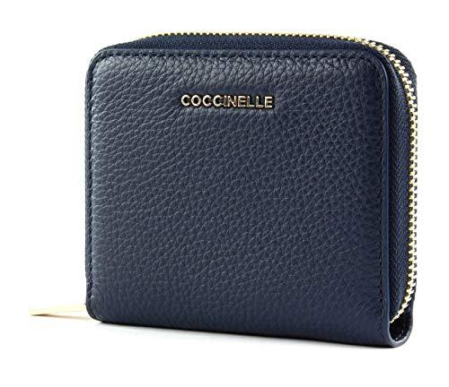 Coccinelle Ink Small Zip Around Wallet metallico morbido