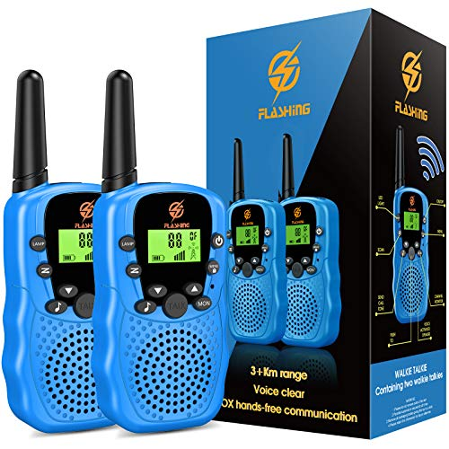 dmazing Walkie Talkies for Kids, Kids Walkie Talkies for Boys Age 5-10 Easter Birthday Gifts for 3-6 Year Old Boys Kids Outdoor Toys for 3-6 Year Old Boys Blue