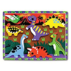 2. Melissa & Doug Dinosaur Chunky Puzzle