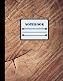 Composition Notebook with Wide Ruled Paper.: Notebook Journal with Beautiful Wood Cut Design and Blank Wide Lined Workbook for Boys, Girls, Kids Teens and College Students