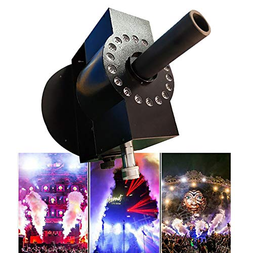 300W Nebelmaschine DMX Steuerung, LED KohlendioxidgassäUlenmaschine CO2,Nebelmaschine Professionelle Mit Stromsicherungschutz,Einstellbarem Winkel,FüR Theater, Party Und Disco Club,18lights