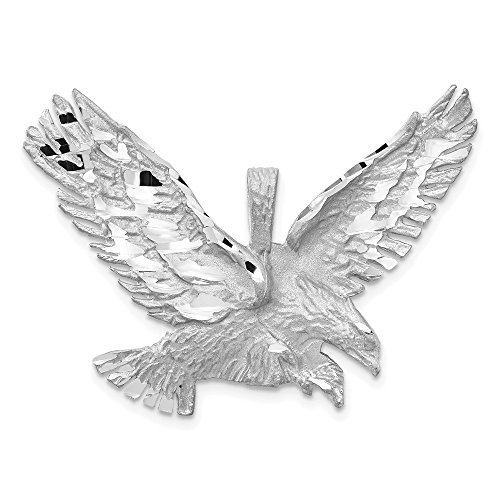14k White Gold Eagle Pendant Charm Necklace Bird Fine Jewellery For Women Gifts For Her