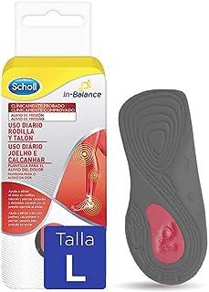 Scholl In-Balance Solette per sollievo dal dolore al ginocchio e al tallone, 1 paio, taglia L (42,5-45)