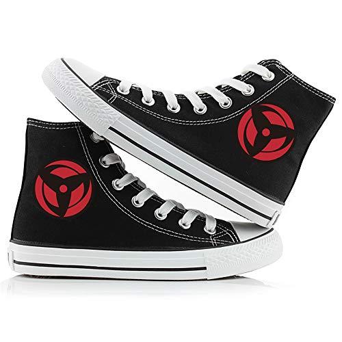 LKKOY Parcial Naruto Uchiha Sasuke Zapatillas Running para Hombre Zapatos Mujer Liviano Sneakers para Correr Trail Zapatillas De Mujer Sneakers,Black 39