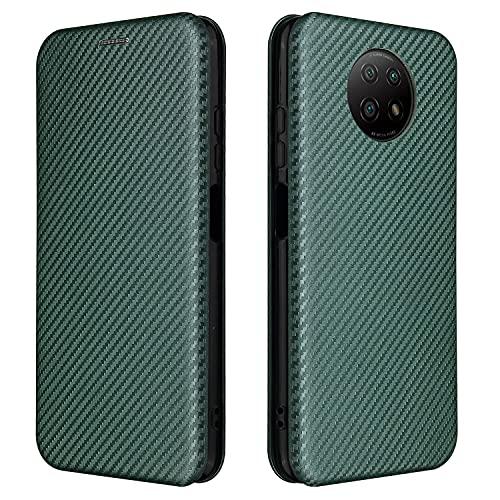 Tapa de la caja de la caja del teléfono Para Xiaomi Redmi Note 9 5G Case, Fibra de carbono de lujo PU y TPU Caso Híbrido PROTECTORIA CUBIERTA A prueba de choques a prueba de golpes para Xiaomi Redmi N