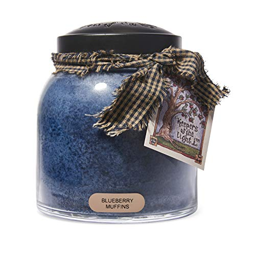 A Cheerful Giver - Blueberry Muffins Papa Scented Glass Jar Candle (34oz) with Lid & True to Life Fragrance Made in USA