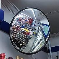 LJWJ 屋外トラフィックミラー屋内球面ミラーセーフティミラートラフィックミラー広角トラフィックミラースーパーマーケットの倉庫用の凸面鏡、盗難防止装置,ブラック,30センチ