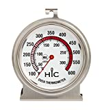 HIC Harold Import 29006 Oven Thermometer, Large 2.5-Inch Easy-Read Face, Stainless Steel