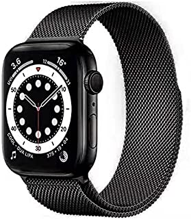 Compatible with Apple Watch Band 38mm 40mm, Adjustable Stainless Steel Metal Mesh Loop Bracelet Straps Wristbands for iWat...