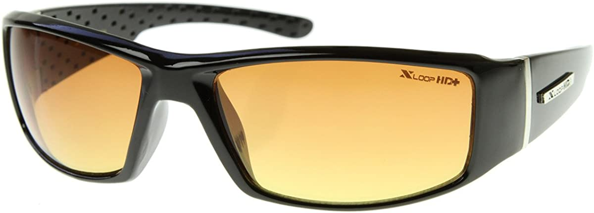 HD Active Ranking TOP3 Time sale Frame Sports Black Sunglasses Shiny Wrap